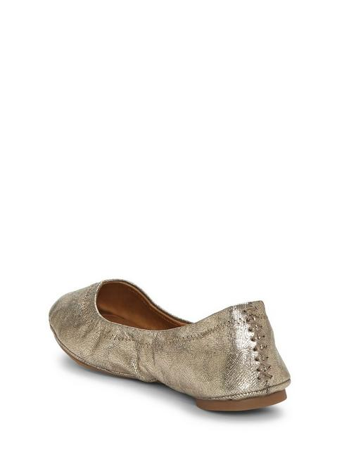 EMMIE LEATHER FLATS, GOLD