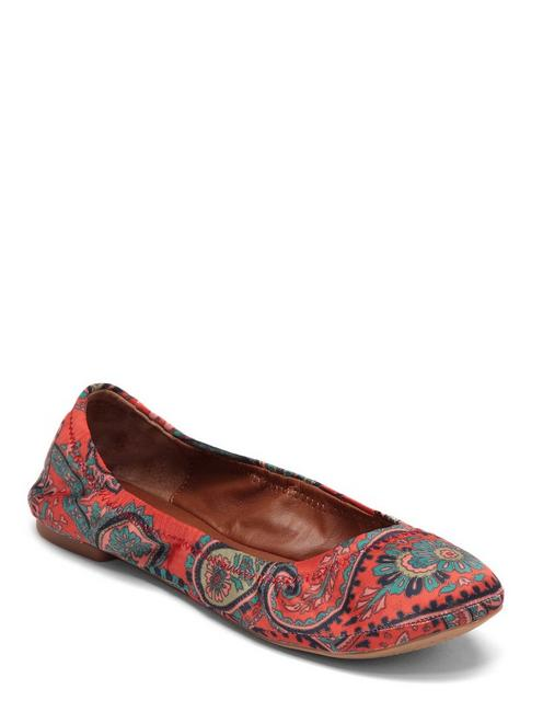 EMMIE LEATHER FLATS, 839 ORANGE