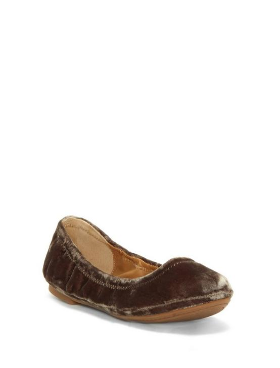 EMMIE LEATHER FLATS, CHOCOLATE VELVET, productTileDesktop