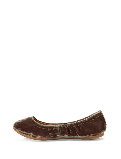 EMMIE LEATHER FLATS, CHOCOLATE VELVET
