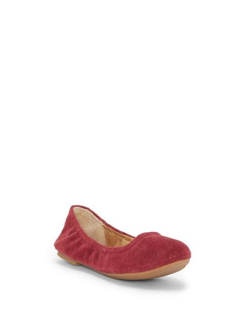 EMMIE LEATHER FLATS, OVERFLOW RED