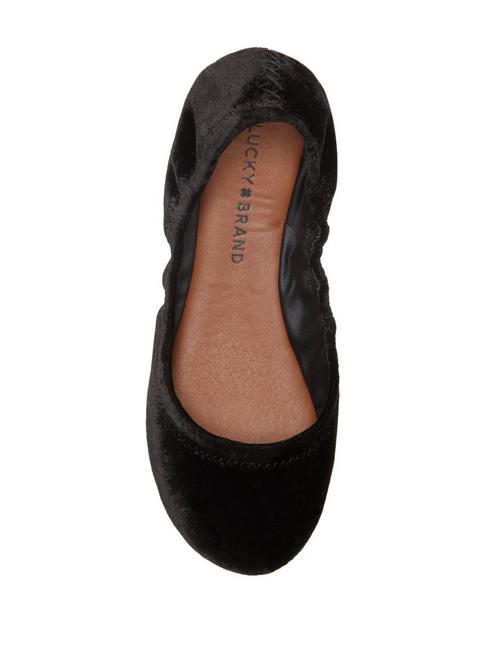 EMMIE LEATHER FLATS, BLACK VELVET