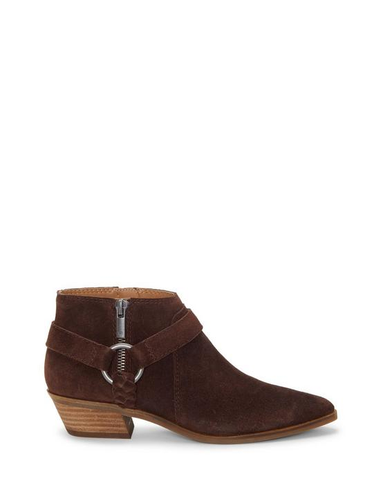 ENITHA SUEDE BOOTIE, DARK BROWN, productTileDesktop