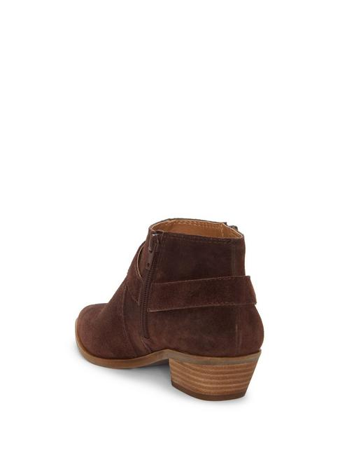 ENITHA SUEDE BOOTIE, DARK BROWN