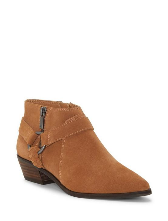 ENITHA SUEDE BOOTIE, MEDIUM DARK BROWN, productTileDesktop