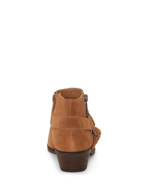 ENITHA SUEDE BOOTIE, MEDIUM DARK BROWN
