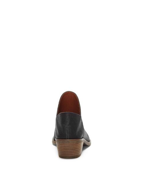 FAUSST LEATHER BOOTIE, BLACK