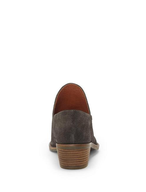 FAUSST LEATHER BOOTIE, LIGHT GREY