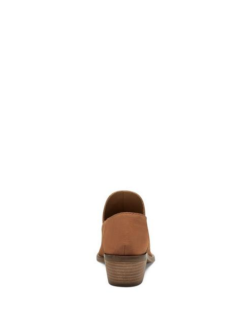 FAUSST LEATHER BOOTIE, DARK BROWN