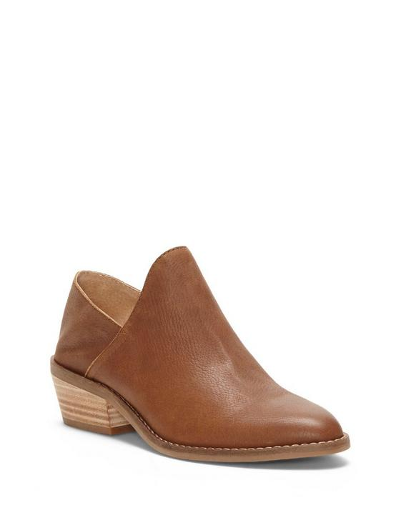 FAUSST LEATHER BOOTIE, OPEN BROWN/RUST, productTileDesktop
