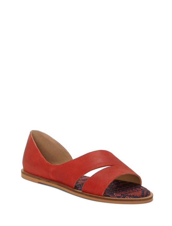 FELICITAS LEATHER FLAT, LIGHT ORANGE, productTileDesktop