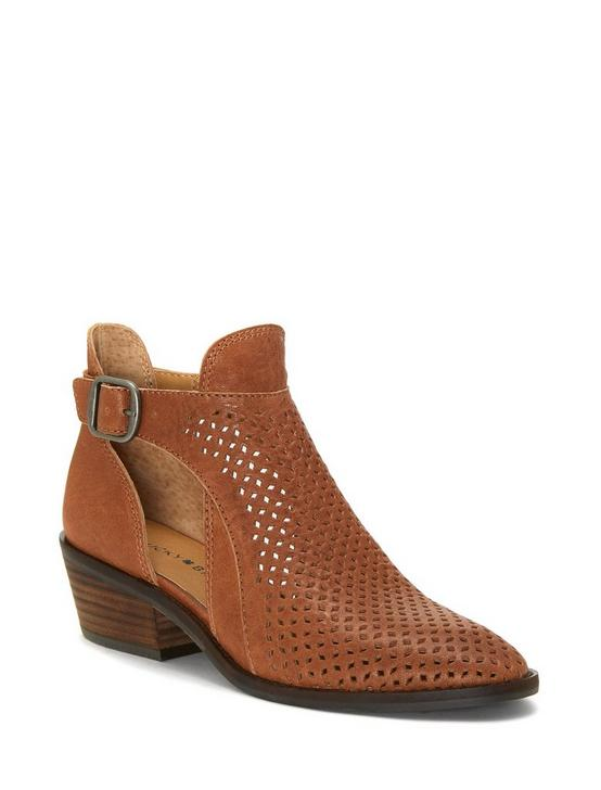 FILLIAN LEATHER BOOTIE, LIGHT BROWN, productTileDesktop
