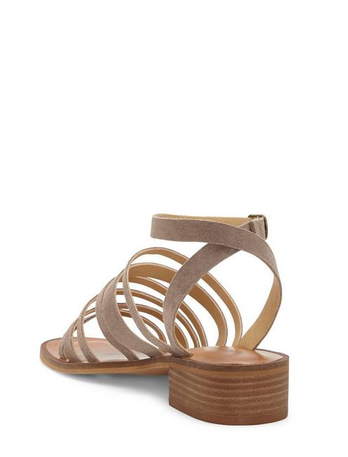 FIROLA LEATHER SANDAL, LIGHT GREY