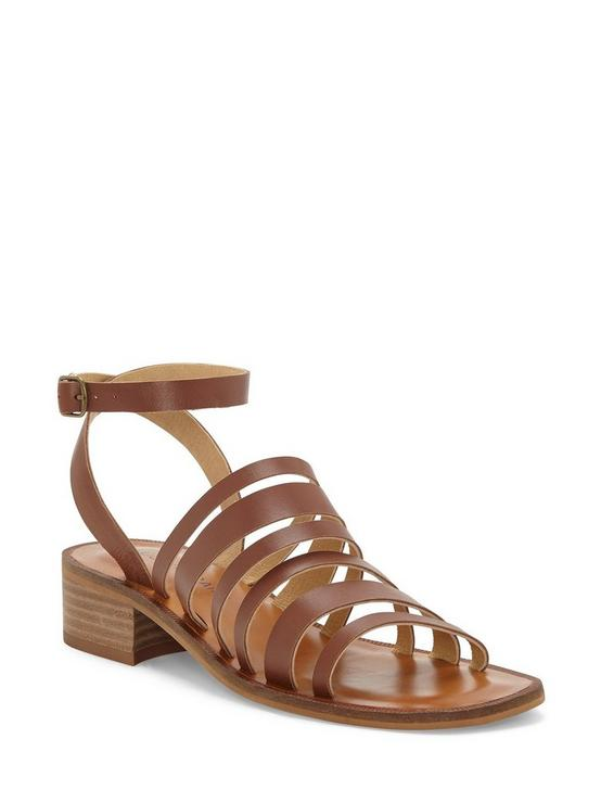 FIROLA LEATHER SANDAL, DARK BROWN, productTileDesktop