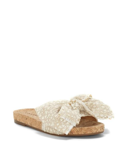 FLOELLA SLIDE SANDAL, MEDIUM BEIGE