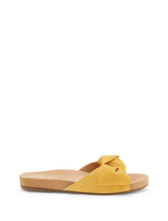 FLORENE SLIDE SANDAL, DARK YELLOW, productTileDesktop