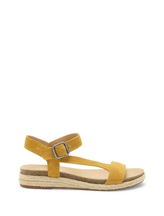 GABRIEN LEATHER SANDAL, LIGHT YELLOW, productTileDesktop