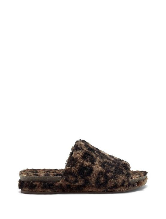 FAUX SHEARLING SLIPPER, MEDIUM DARK BROWN, productTileDesktop