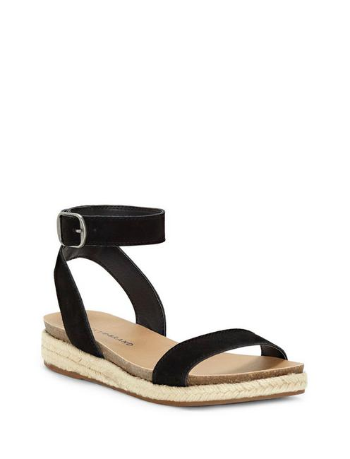 GARSTON LEATHER SANDAL, BLACK