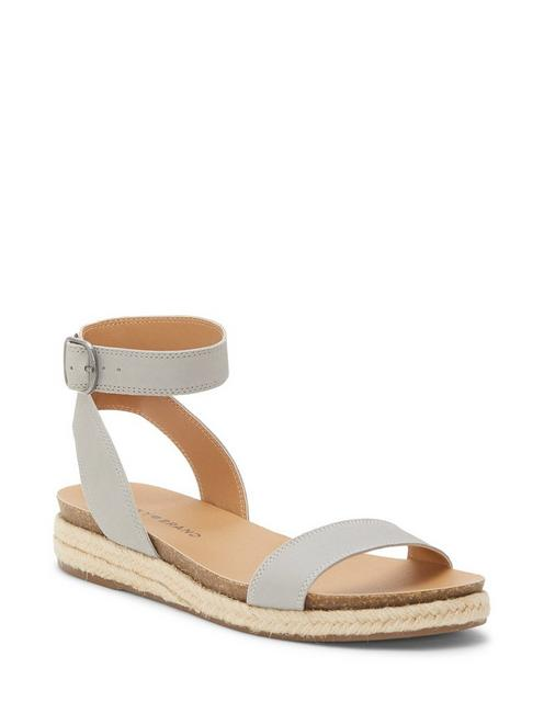 GARSTON LEATHER SANDAL, LIGHT GREY