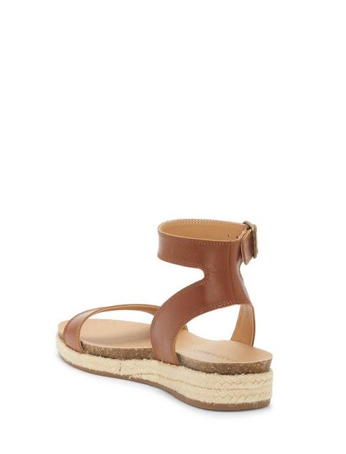 GARSTON LEATHER SANDAL, OPEN BROWN/RUST