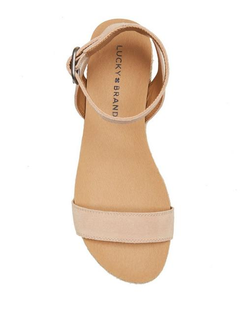 GARSTON LEATHER SANDAL, MEDIUM BEIGE