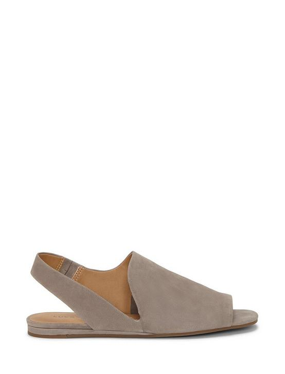 GEORGETA SUEDE FLAT SANDALS, LIGHT GREY, productTileDesktop