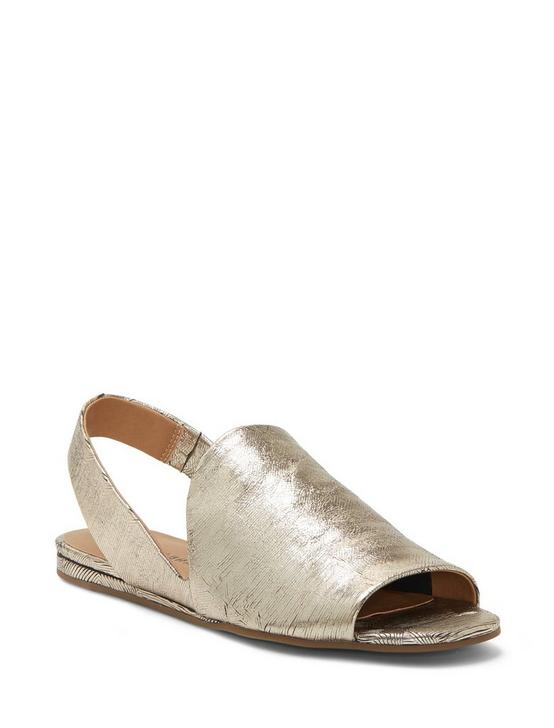 GEORGETA SUEDE FLAT SANDALS, GOLD, productTileDesktop
