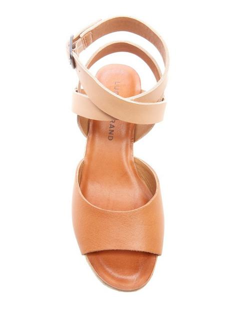GINNY WEDGE, LIGHT BROWN
