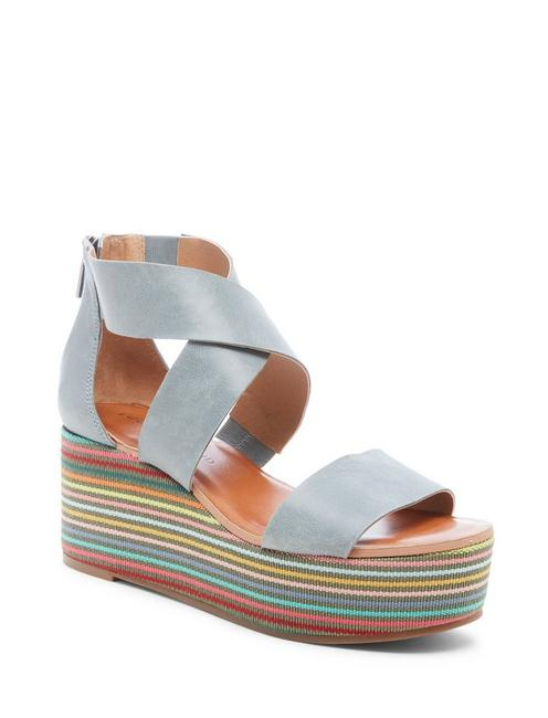 GWINDOLIN WEDGE, LIGHT BLUE