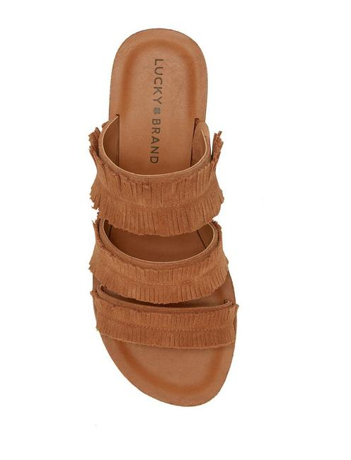 HEGEN SLIDE SANDAL, MEDIUM DARK BROWN