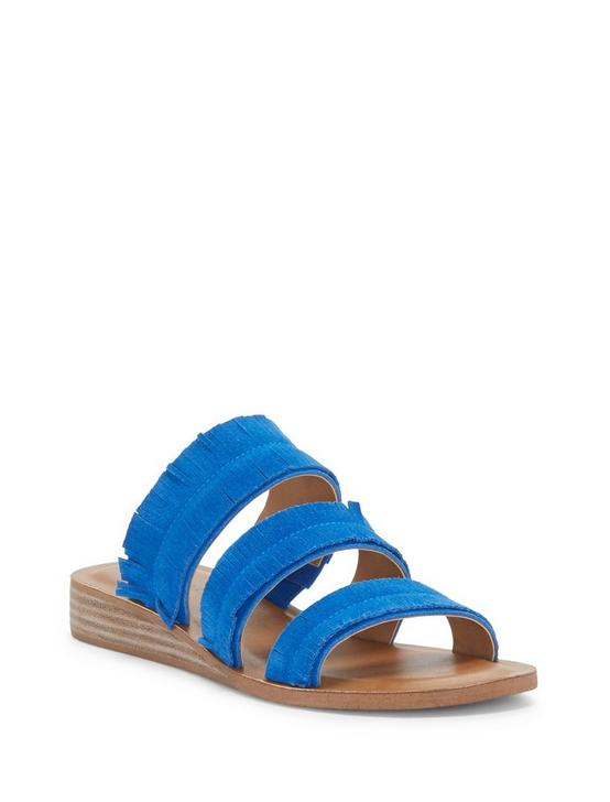 HEGEN LEATHER SLIDE SANDAL, OPEN BLUE/TURQUOISE, productTileDesktop