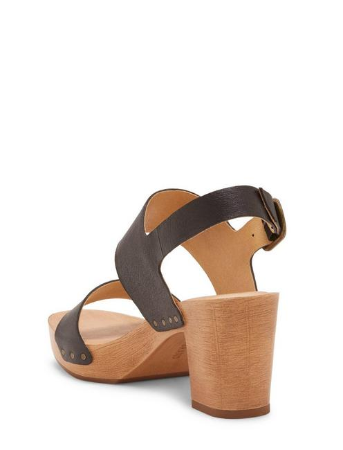 HEMZI WOOD HEEL, BLACK