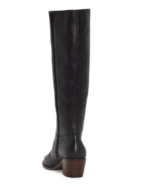 ISCAH LEATHER BOOT, BLACK