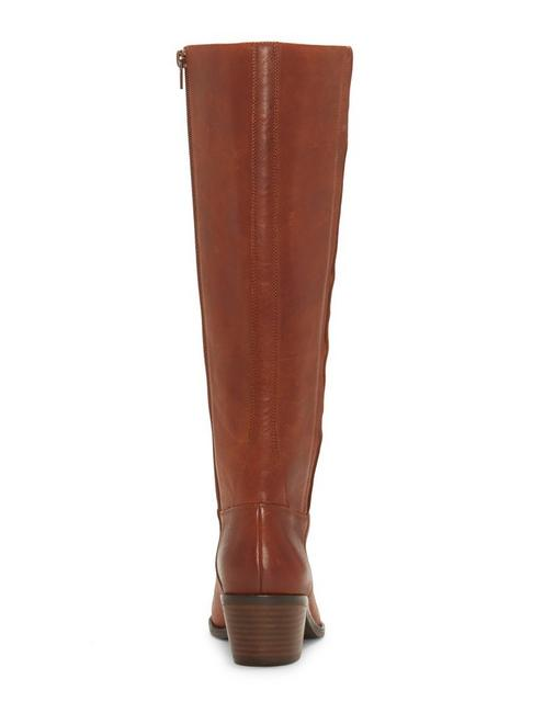 ISCAH LEATHER BOOT, DARK BROWN