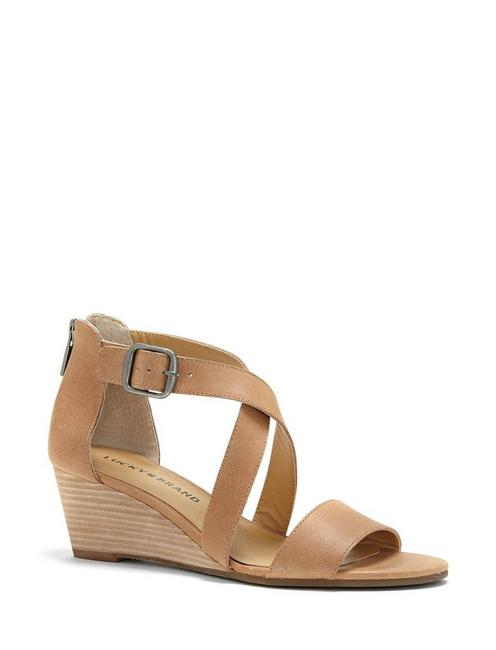 JENLEY WEDGE, LIGHT BROWN