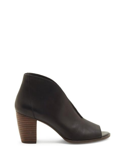 JOAL LEATHER HEEL, BLACK