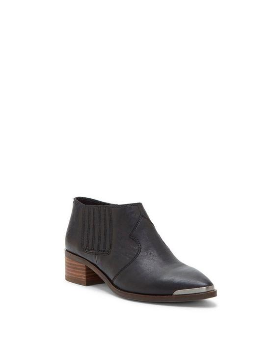 KALBAH LEATHER BOOTIE, BLACK, productTileDesktop
