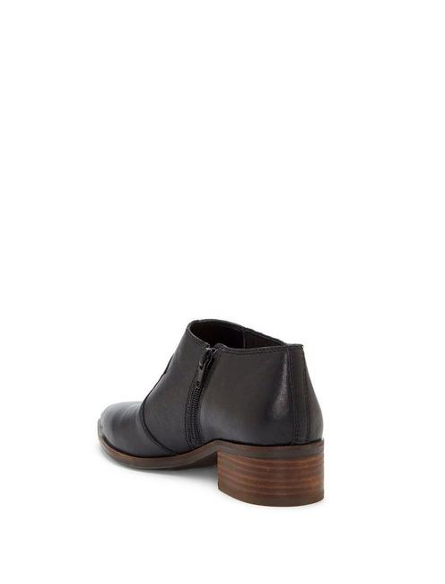 KALBAH LEATHER BOOTIE, BLACK