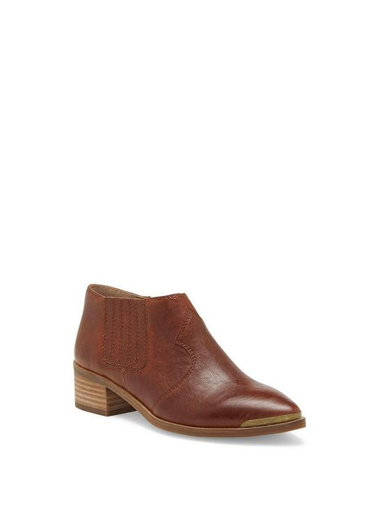 KALBAH LEATHER BOOTIE, DARK BROWN, productTileDesktop