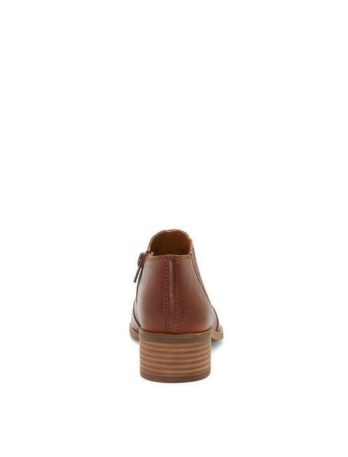 KALBAH LEATHER BOOTIE, DARK BROWN