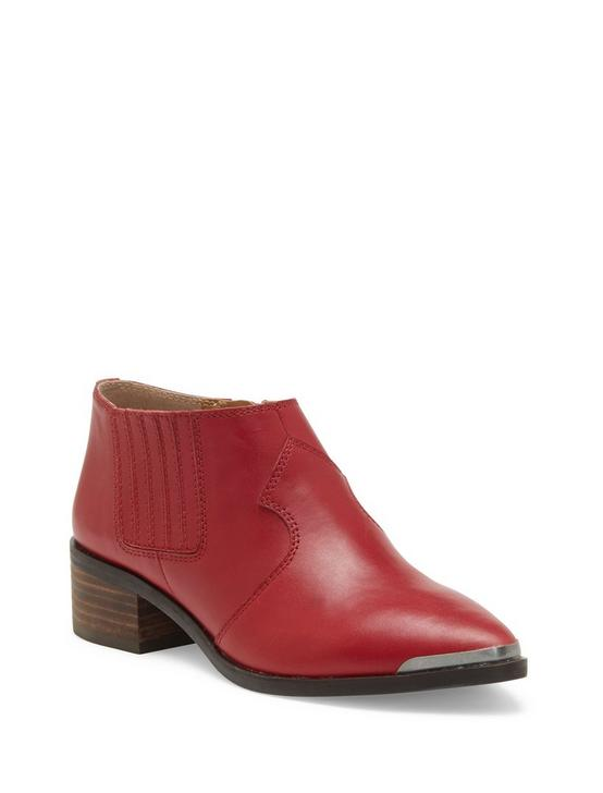 KALBAH LEATHER BOOTIE, DARK RED, productTileDesktop