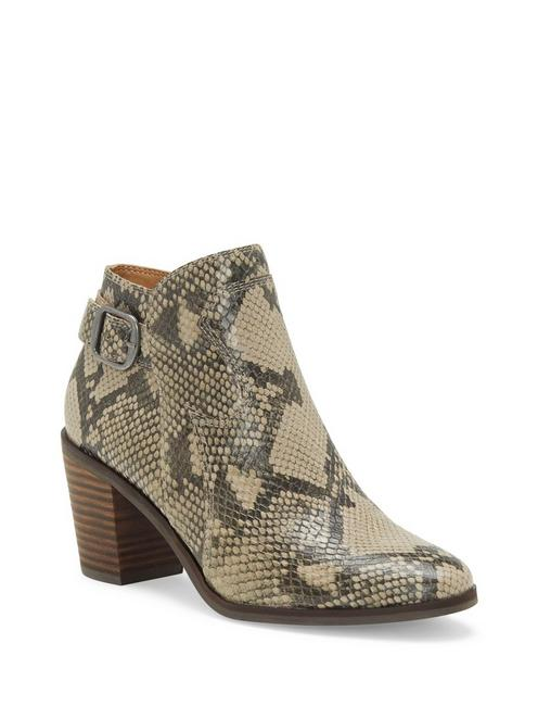 KAUTO LEATHER BOOTIE, LIGHT GREY