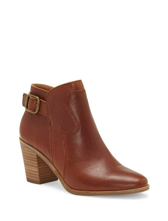 KAUTO LEATHER BOOTIE, DARK BROWN, productTileDesktop