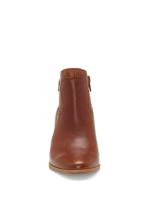 KAUTO LEATHER BOOTIE, DARK BROWN