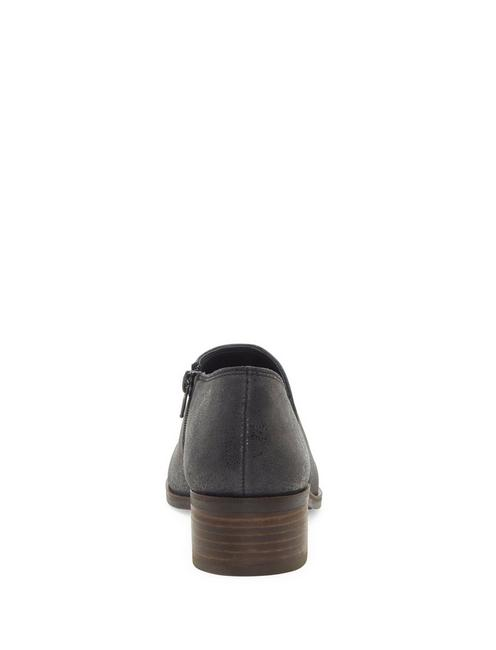 KENRI LEATHER BOOTIE, BLACK