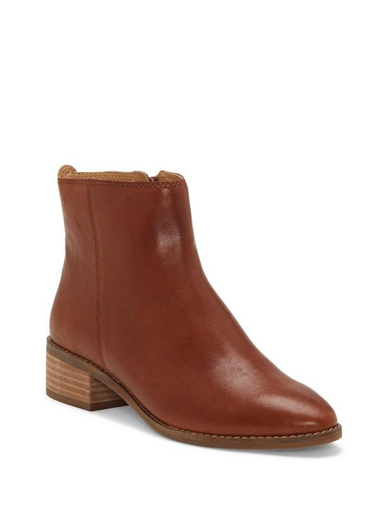 LENREE LEATHER BOOTIE, DARK BROWN, productTileDesktop