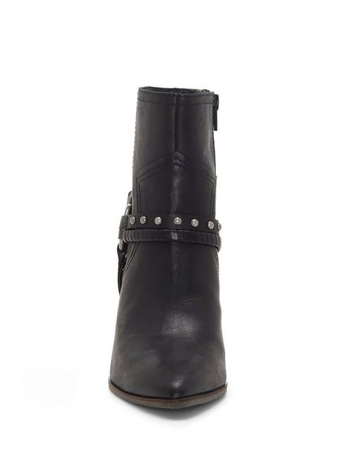 MAJOKO LEATHER BOOTIE, BLACK