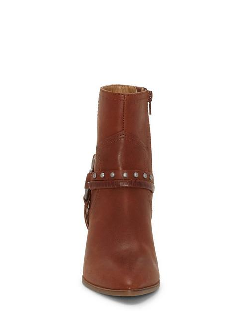 MAJOKO LEATHER BOOTIE, DARK BROWN