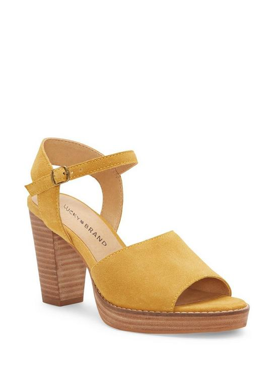 NANIKA LEATHER HIGH HEEL, GOLDEN YELLOW, productTileDesktop